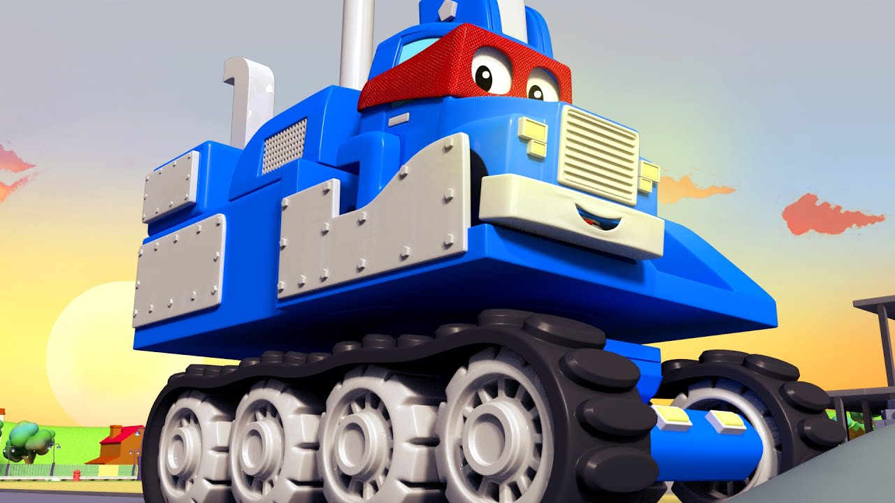 Download SUPER TRUCK EXCAVATOR - Carl the Super Truck becomes an Excavator to save Car City Children Cartoon