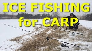 How to catch zero carp while ice fishing - ice fishing for carp in Virginia