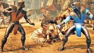 Scorpion Dourado Vs Sub-Zero Blue Steel: Mortal Kombat X