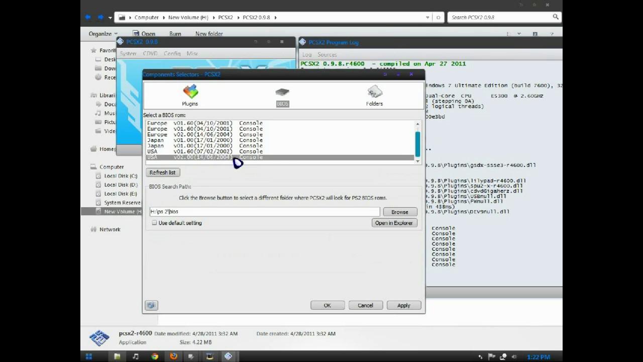 TÉLÉCHARGER BIOS OF PCSX2 0.9.8