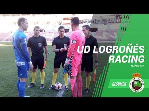 Resumen del partido UD Logroñés vs Racing · 5 de enero del 2019