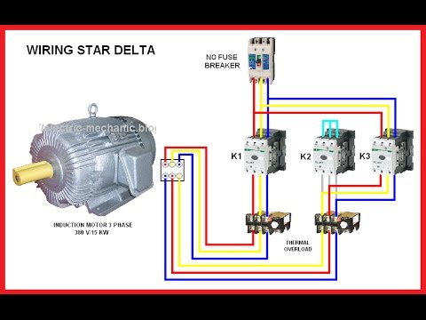 3 Phase Motor Wiring Diagram Star Delta Class Example For Library Management System Connection In Hindi (hindi/urdu) - Youtube