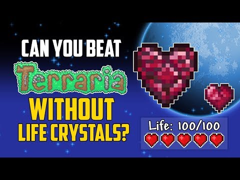 Can You Beat Terraria Without Using Life Crystals? | HappyDays