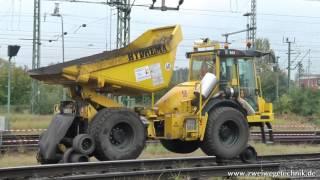 Hydrema Zweiwege Dumper 912ZW am Hauptbahnhof Braunschweig