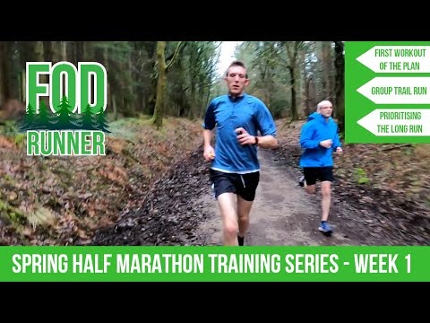 Spring Trails HALF MARATHON Running Training SERIES - Week 1 VLOG | FOD Runner