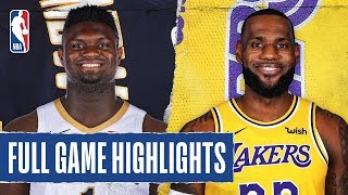 Gambar cover PELICANS at LAKERS | FULL GAME HIGHLIGHTS | February 25, 2020