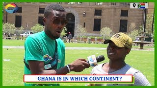 GHANA is in Which CONTINENT? | Street Quiz South Africa | Street Quiz Mzansi | Funny African Videos