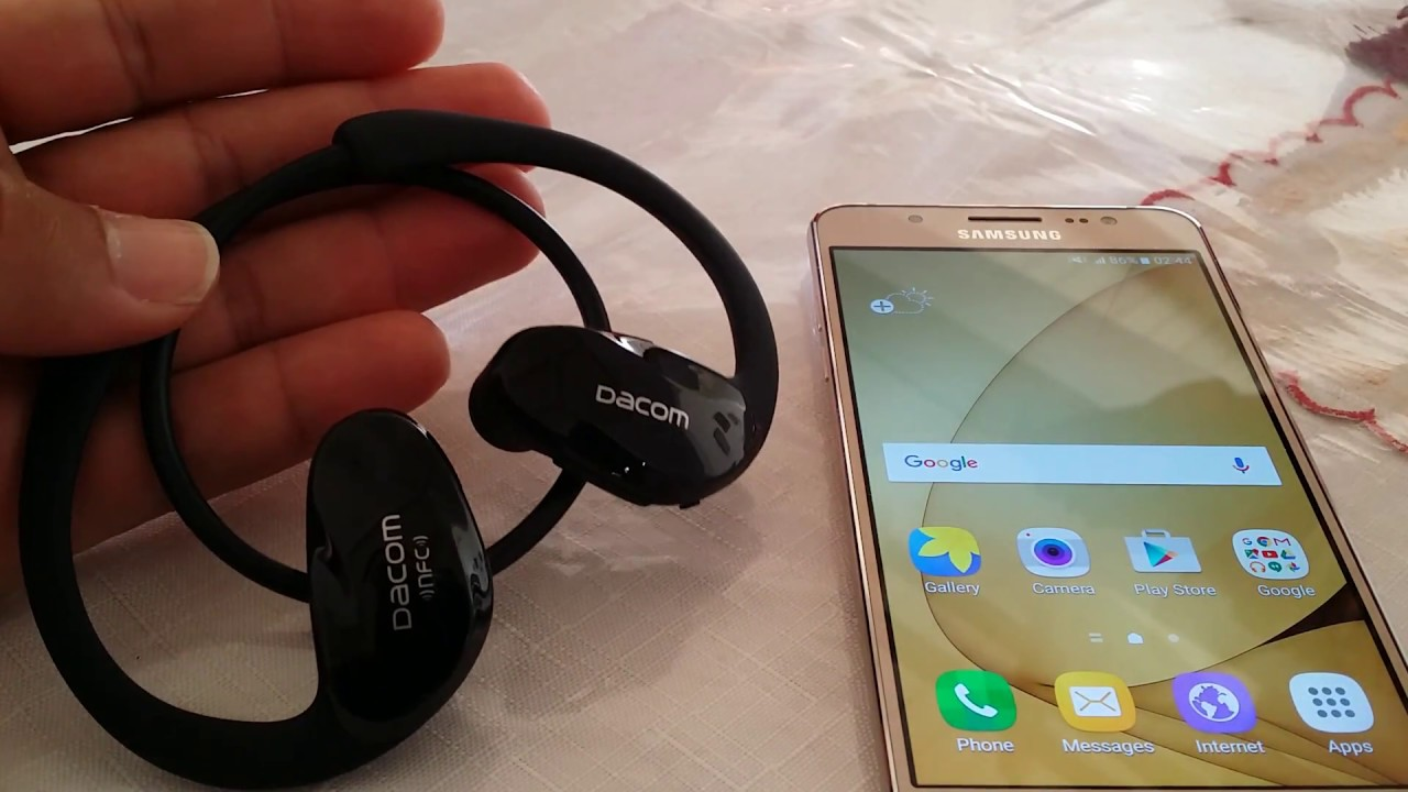How To Pair The Dacom Athlete Bluetooth Headset To Samsung J5 Youtube