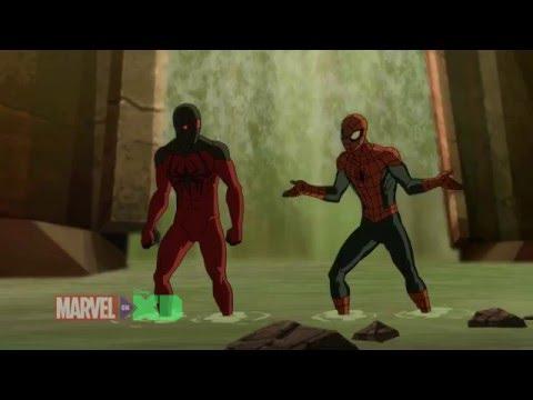Marvel' s Ultimate Spiderman vs the Sinister Six (Spidey and Scarlet Spider vs Kraven) PART 1