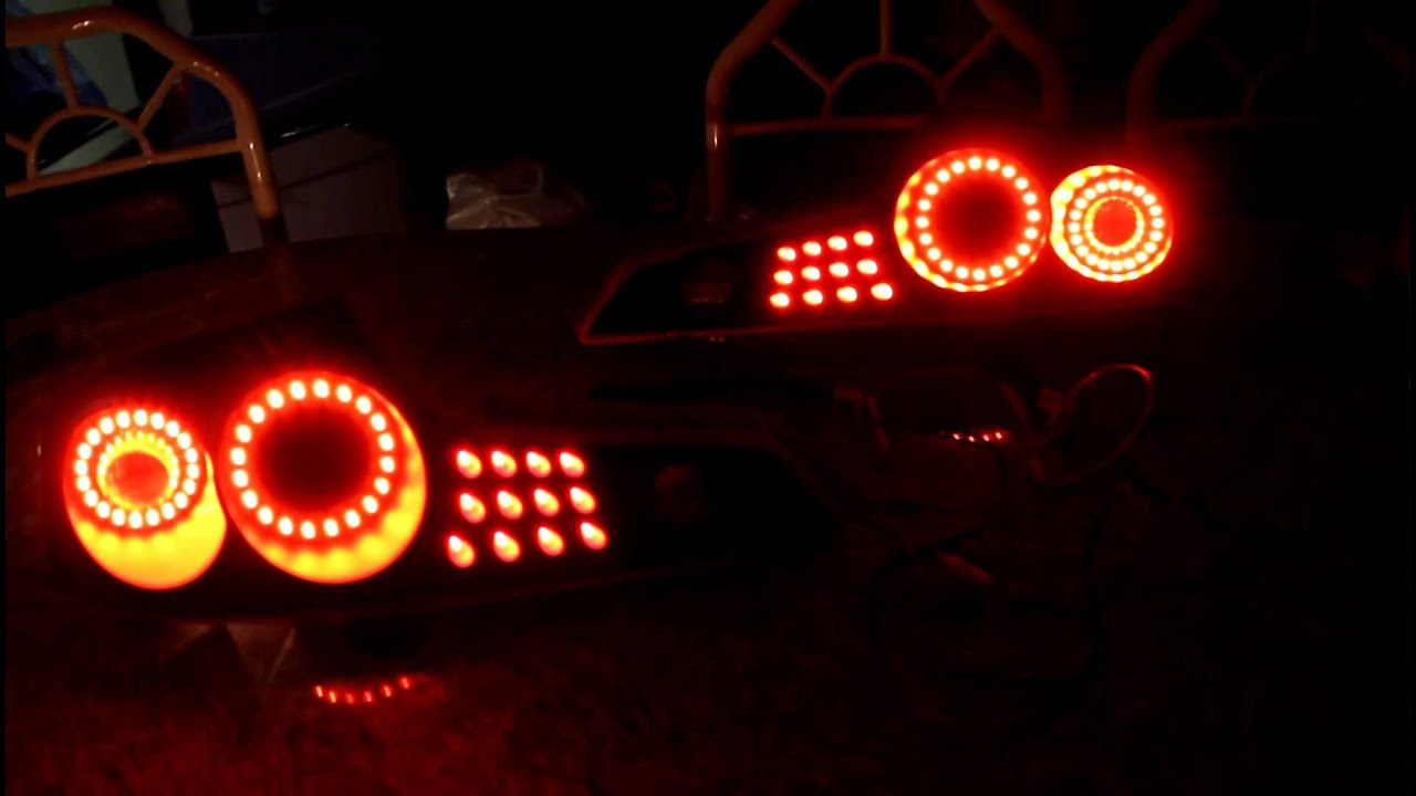 G35 Dual Ring Led Tail Lights V1 Non Sequential Youtube