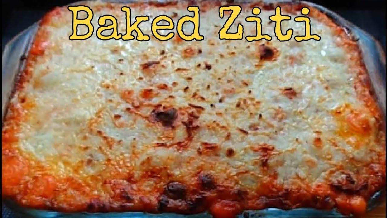 Creamy and Cheesy Baked Ziti