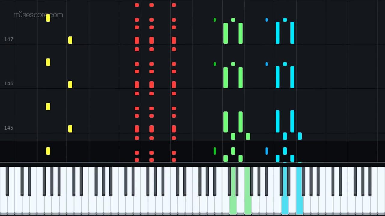 🎶🇮🇹 FUNICULI FUNICULA   Italian song   Piano Roll   Musescore   MasterEd    YouTube   2019 🇮🇹🎶