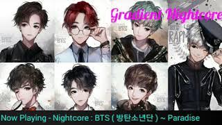 【Nightcore】| BTS ( 방탄소년단 ) – Paradise ✗