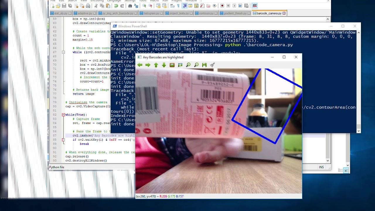 OpenCV Python Find Barcode Test 2