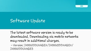 How to update Samsung Galaxy J2 ( may 11 2017 )