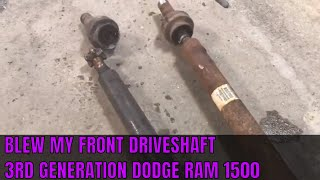 How to Replace Front Driveshaft Assembly • Dodge Ram 1500 • 3RD Generation Ram