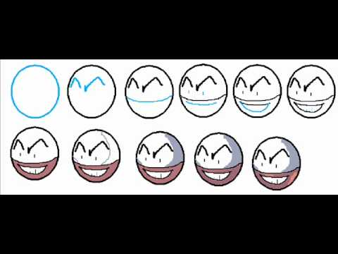 How to draw electrode the pokemon easy simple step by step drawing tutorial