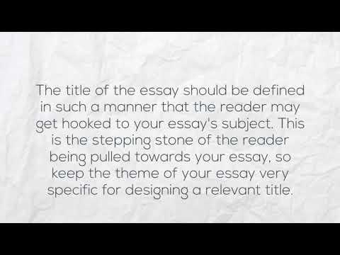 Essay title help desk