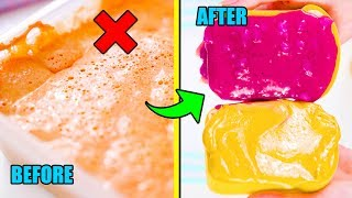 turning-my-old-slimes-into-food-slime-makeover-challenge