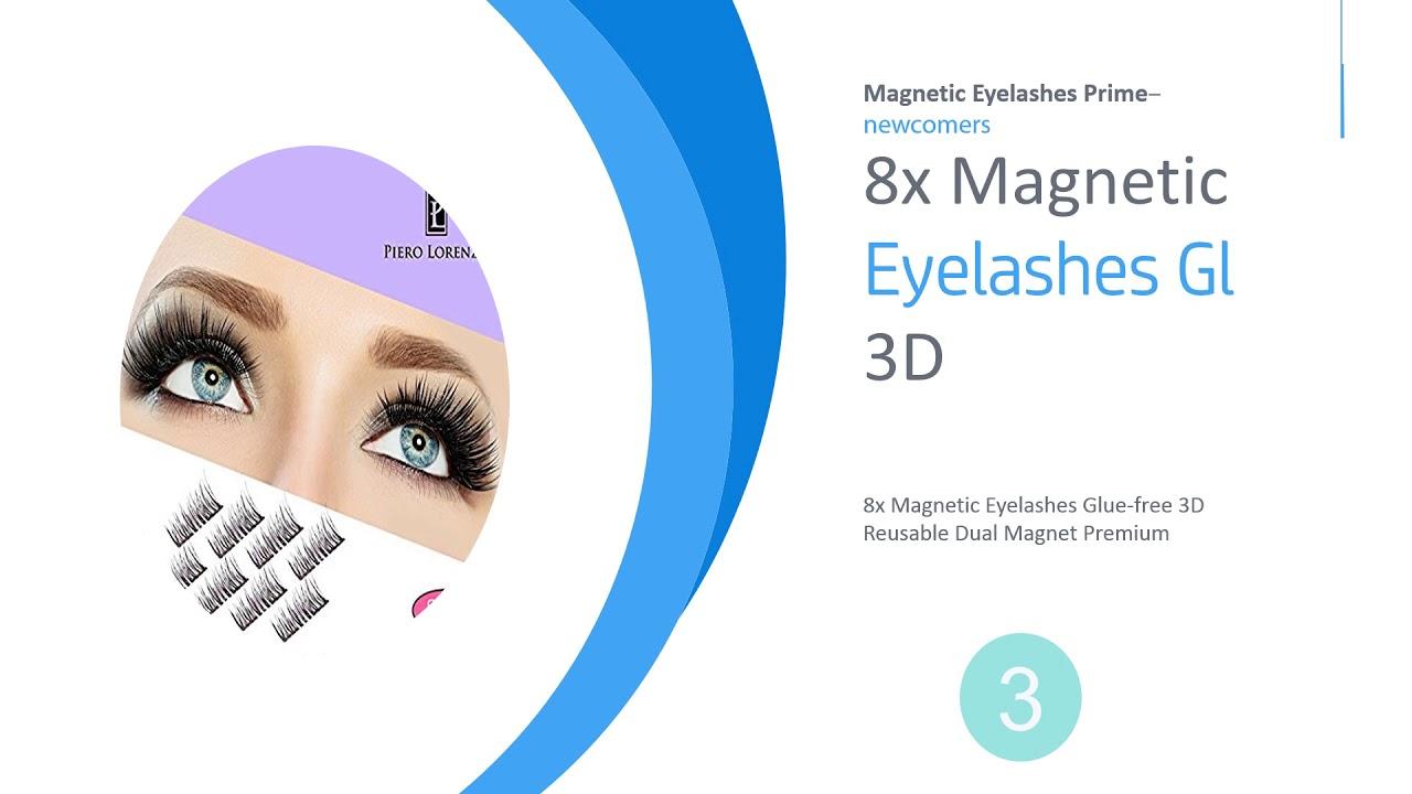 82e440bcc45 Magnetic Eyelashes Prime [Best New]: 8x Magnetic Eyelashes [No - YouTube