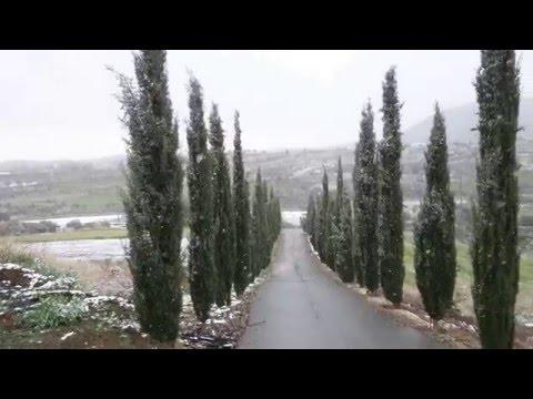 Snow in Klirou, Cyprus 1/1/16