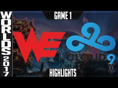 WE vs C9 Highlights Game 1 - Quarterfinal World Championship 2017 Team WE vs Cloud 9 G1