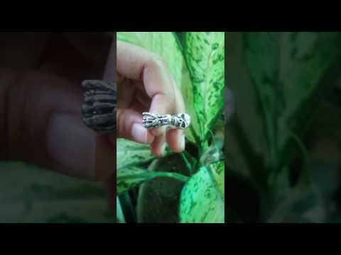sterling silver dragon and skull mens ring from global silver factory bali SR 230 KA