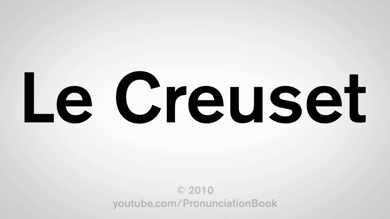 how to pronounce le creuset youtube. Black Bedroom Furniture Sets. Home Design Ideas