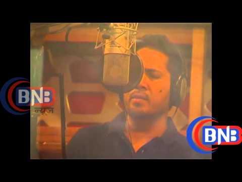 Singer Mika Singh & Ravindra Jain at Song Recording of the film Anna