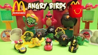 2016 McDONALD'S THE ANGRY BIRDS MOVIE KIDS TOYS ACTION USA COLLECTION REVIEW