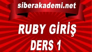 Ruby Dersleri 1 Ruby Hakkında
