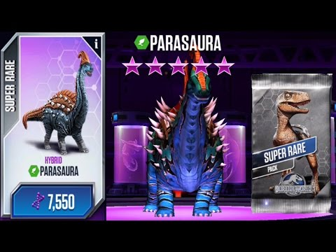 Parasaura Max Level and Super Rare Pack - Jurassic World The Game