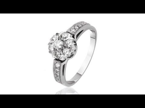 Золотое кольцо с бриллиантами Малинка, КД7432/1