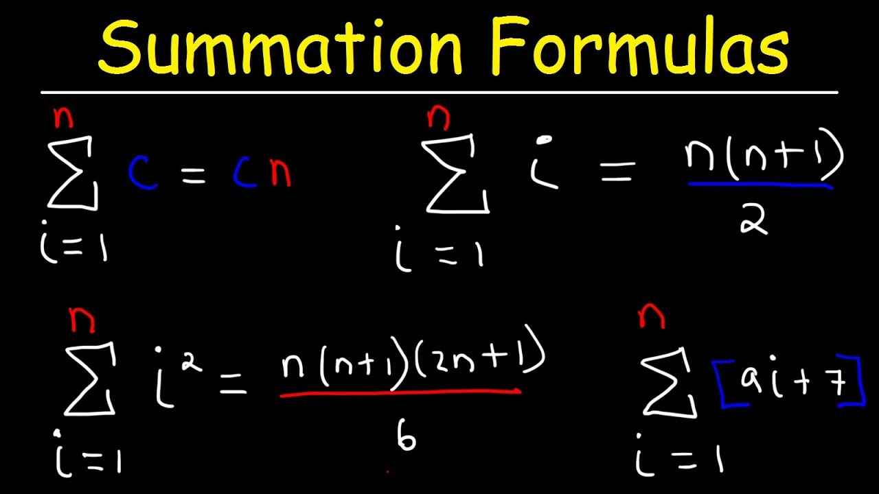 how to solve summation formulas