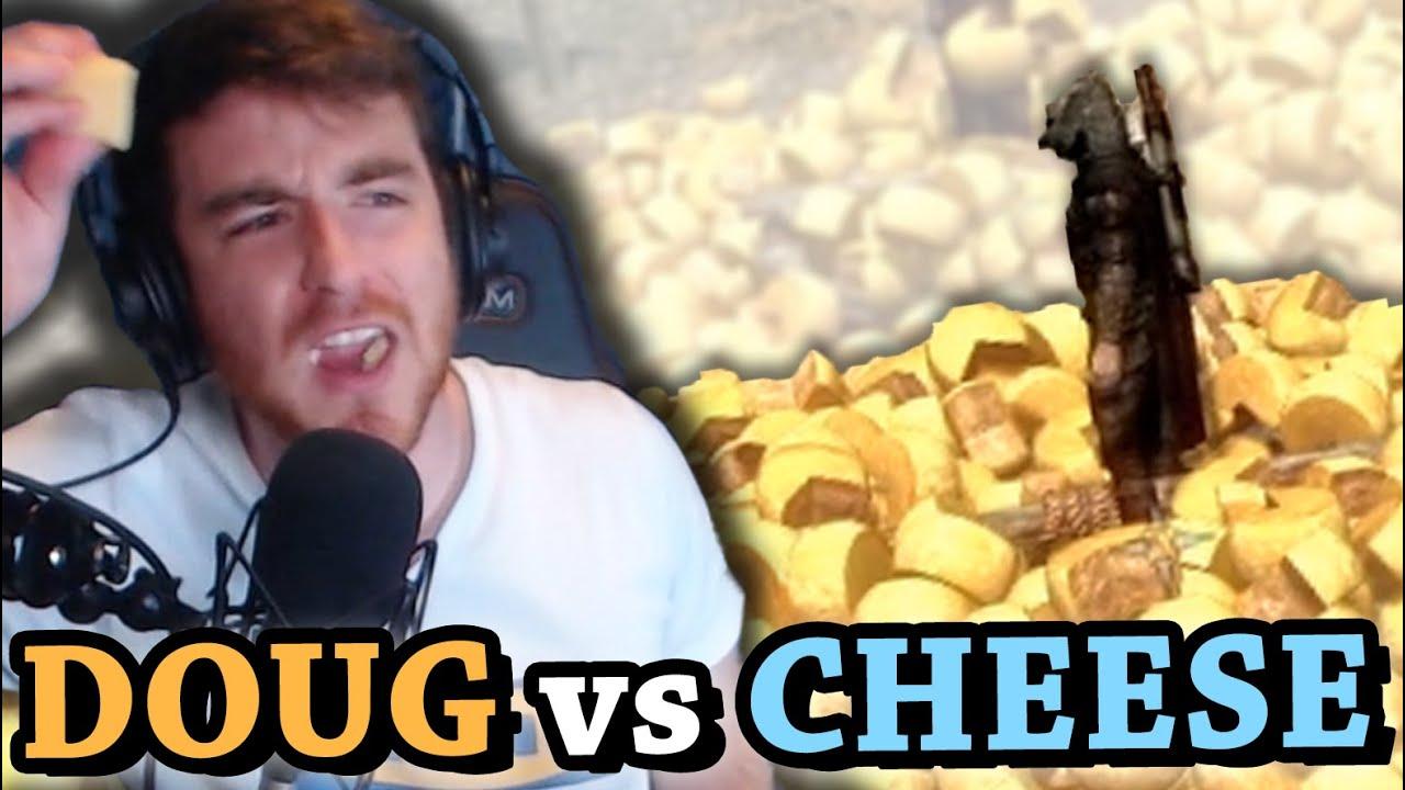 DOUGDOUG vs 10 POUND WHEEL OF CHEESE