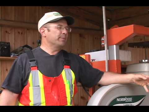Norwood Portable Band Sawmill Owner Gerald Robertson Chats About his  Norwood ML26