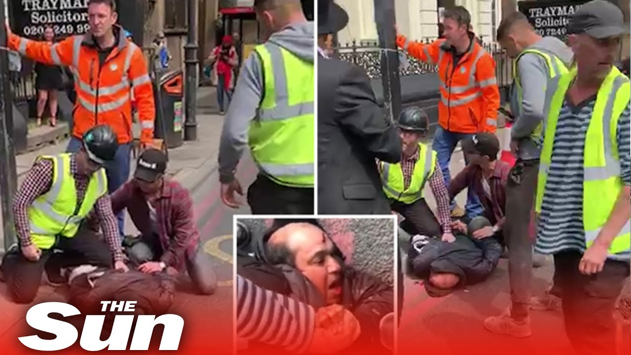 Hero workman wrestles with knifeman after horror high street stabbing
