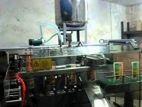 Liquid horizontal preformed pouch filling and sealing machine with date coder packaging system