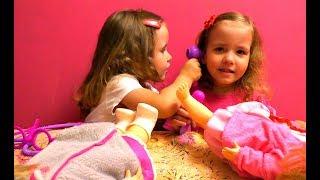 ИГРАЕМ В ДОКТОРА. Доктор Плюшева игрушки набор Doc McStuffins Играем в доктора с куклами Лечим куклу