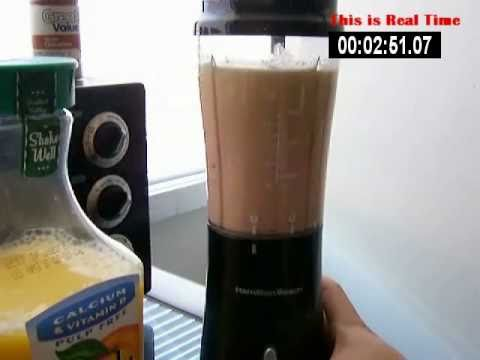 Hamilton Beach Single Serve Blender (making Fruit Smoothie)