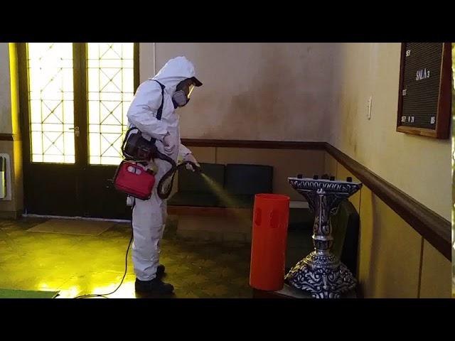 Realizaron tareas de desinfección en las instalaciones de Sentir Carruajes