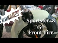 Sportster- 150 front tire conversion.