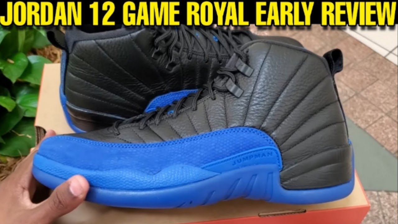 Jordan 12 Game Royal Early Review These Might Sellout But I M Sleep