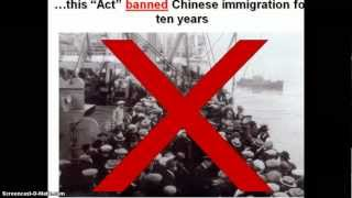 Chinese Exclusion Act and discrimination against the Chinese