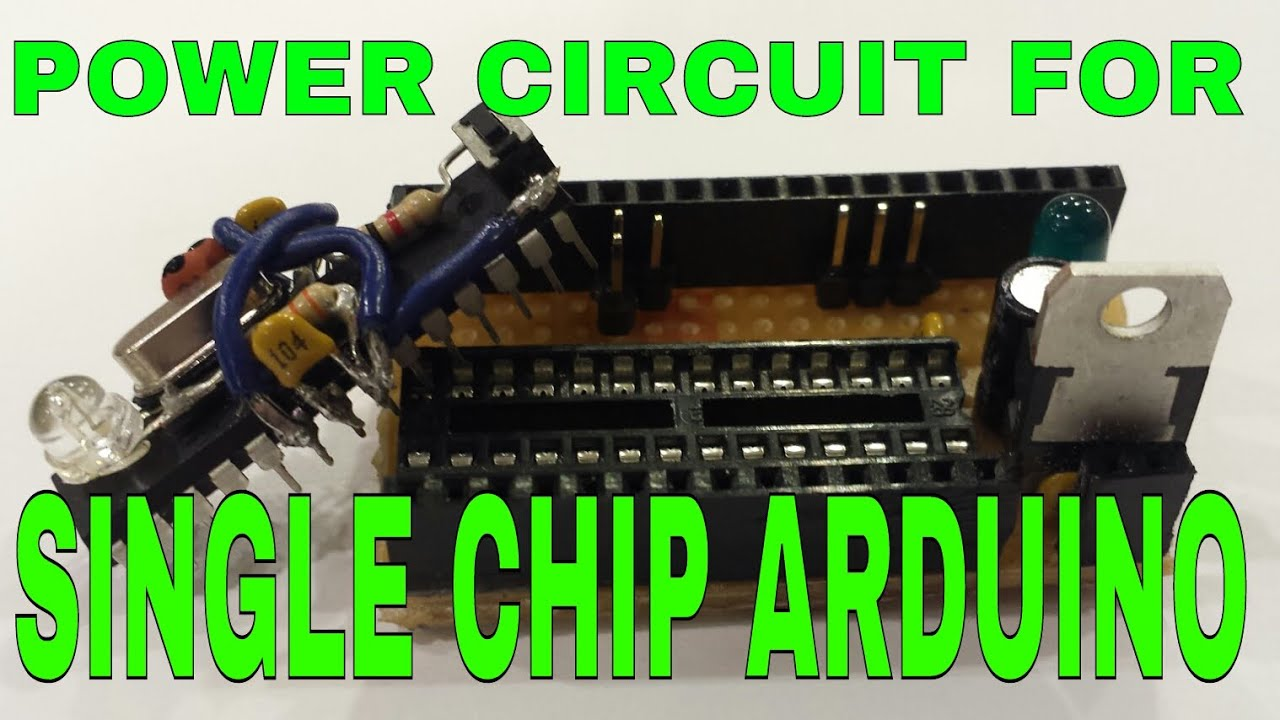 Single chip arduino build the power and programing board