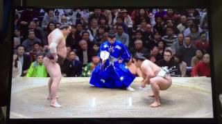 大相撲初場所 貴ノ岩大金星!!稀勢の里初優勝!!