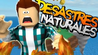 SURVIVING NATURAL DISASTERS + ZOMBIE OLEADA ? Roblox gameplay English [KraoESP]