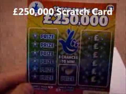 £250,000 UK National lottery winning scratch card - YouTube