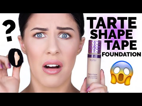 TARTE SHAPE TAPE FOUNDATION!!! FIRST IMPRESSIONS & REVIEW!!
