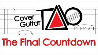 Europe - The Final Countdown - Guitar Backing Track -  Solo Tab & Lyrics